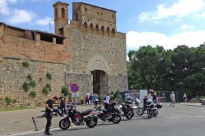 Partenza da San Gimignano