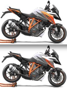 KTM arancione e antracite