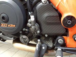 KTM copripignone montato